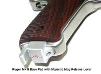 Magazine Base Pad for Ruger Mk II and Mk III by Majestic Arms
