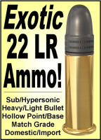 Exotic 22 LR Ammunition