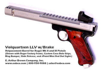 Volquartsen LLV Barrels for Ruger Mk III and 22/45 Pistols